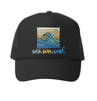 Hat Y Sea Sun Surf Black