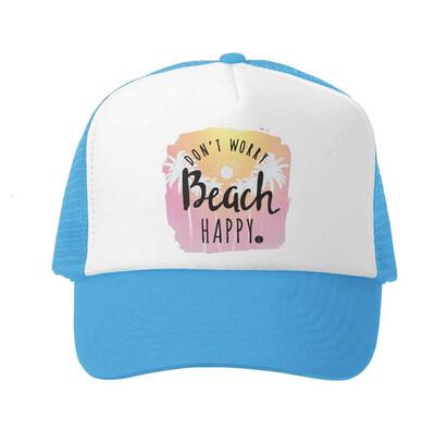 Hat Y Beach Happy Aqua