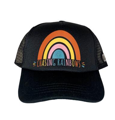 Hat Y Chasing Rainbows Black