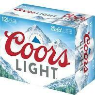 Coors Light 12 pk cans