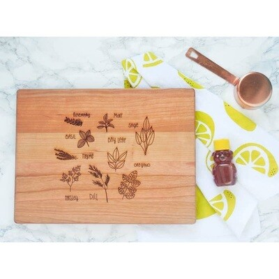 Herb Garden Cutting Board