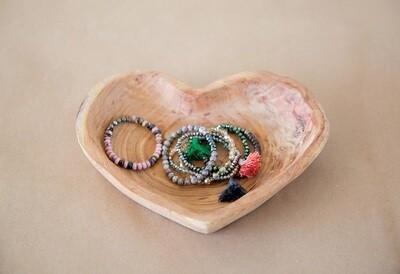 Wood Heart Bowl
