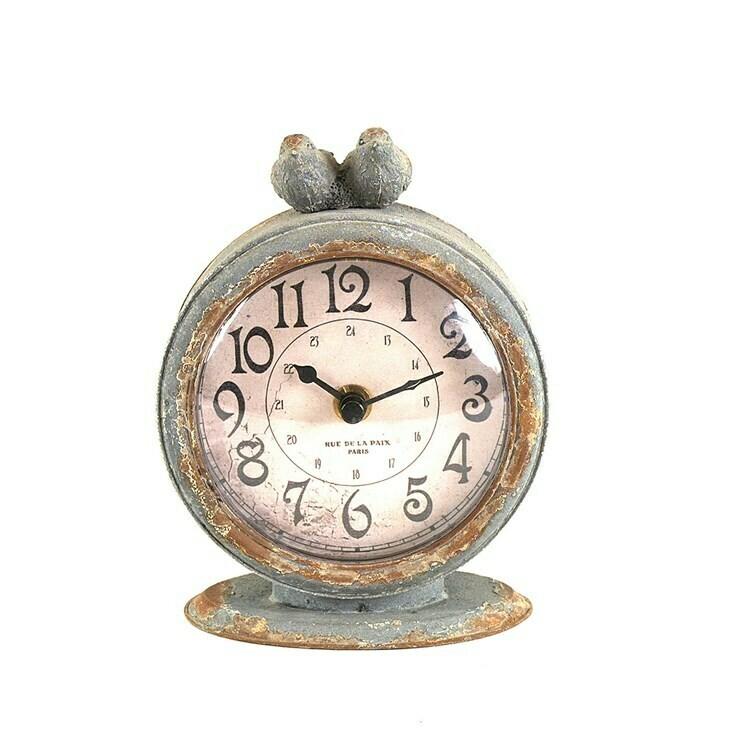 Pewter Bird Clock