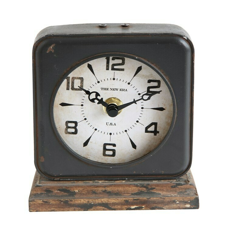 Black Square Clock
