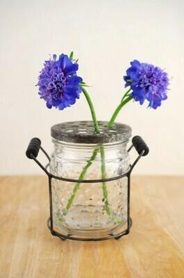 Hobnail Glass Jar