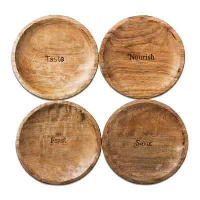 Wood Tidbit Plate