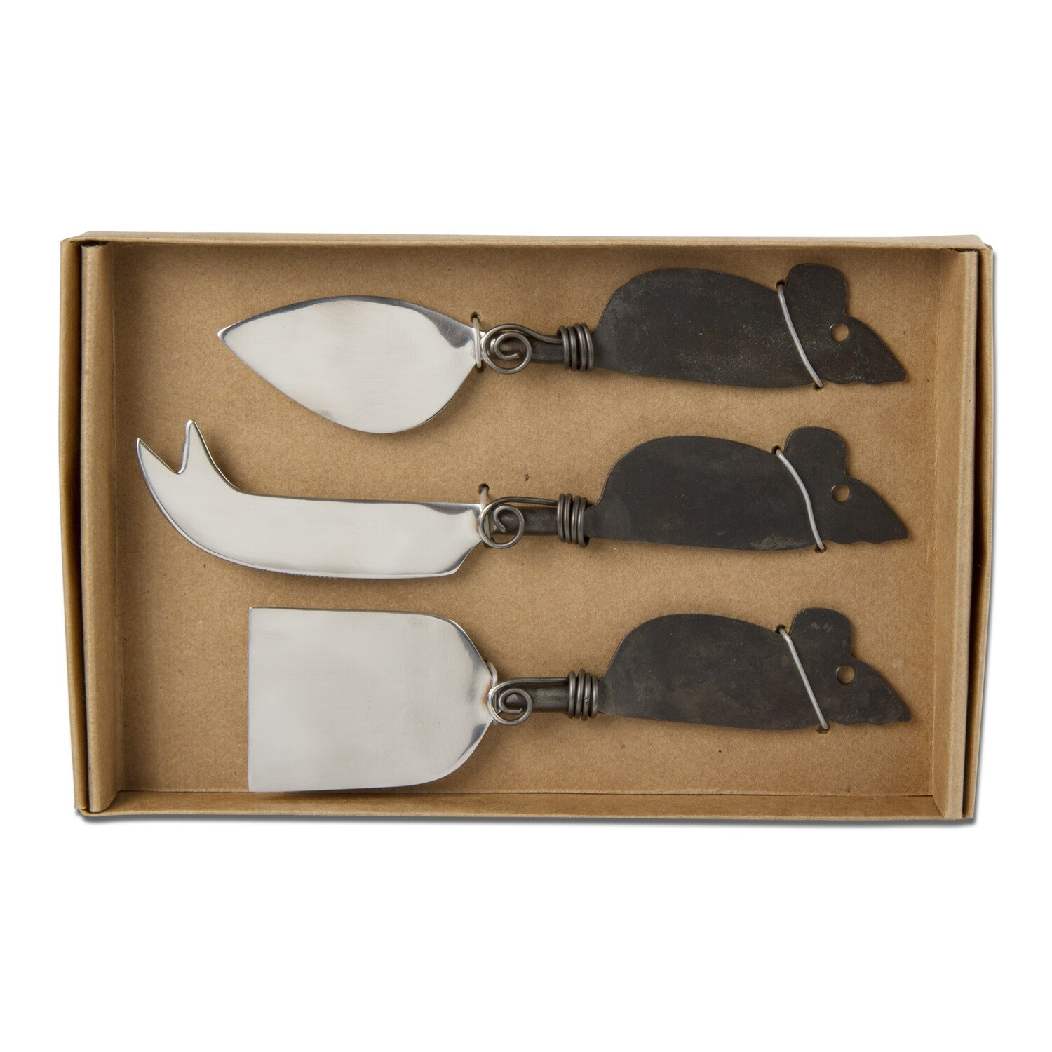 Mouse Cheese Utensils S/3