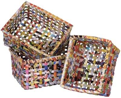Paper Square Basket