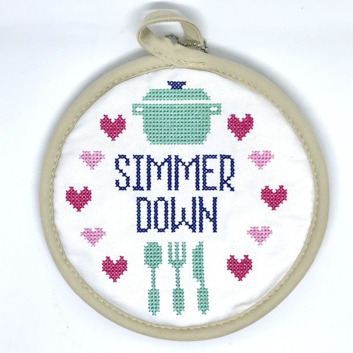 In Stitches Pot Holder, Simmer Down