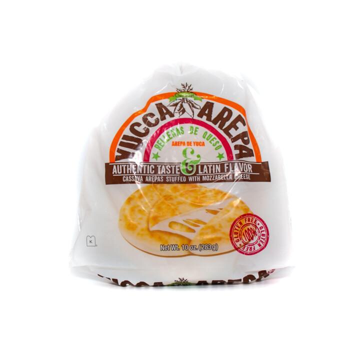 Arepas-Yuca Arepa stuffed with cheese
