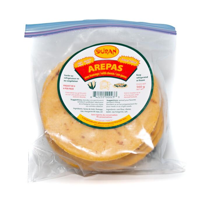 Arepa with cheese Duran (Yellow)