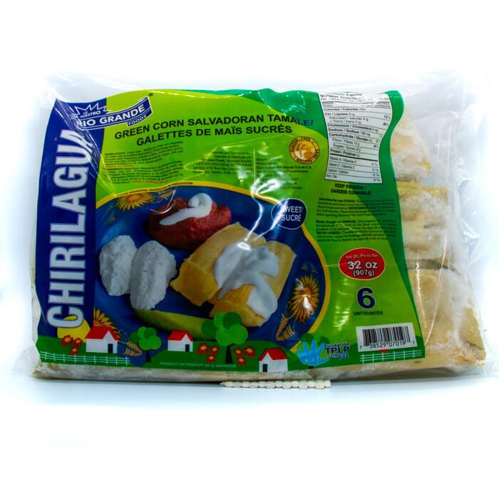 Chirilagua-Tamale Frozen(sweet) Green Corn x12