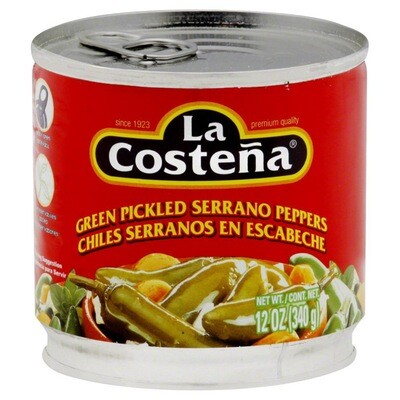 La Costena Serranos Whole 7oz
