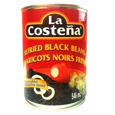 La Costena Refried black beans 19oz