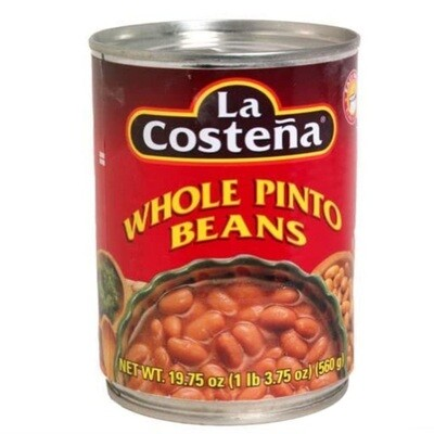 La Costena Whole Pinto Beans 19oz