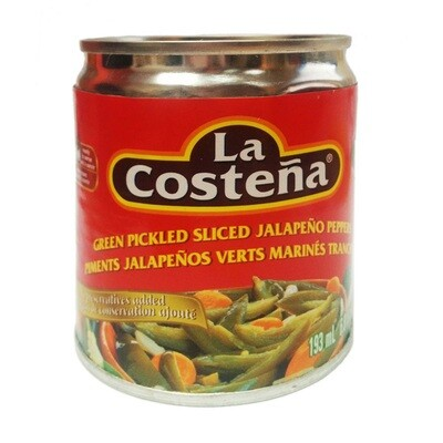 La Costena Green Pickled Sliced Jalapeno 7oz