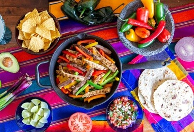 Take Out - Cinco de Mayo Special: Chicken Fajita Taco Kit  3-4 people.