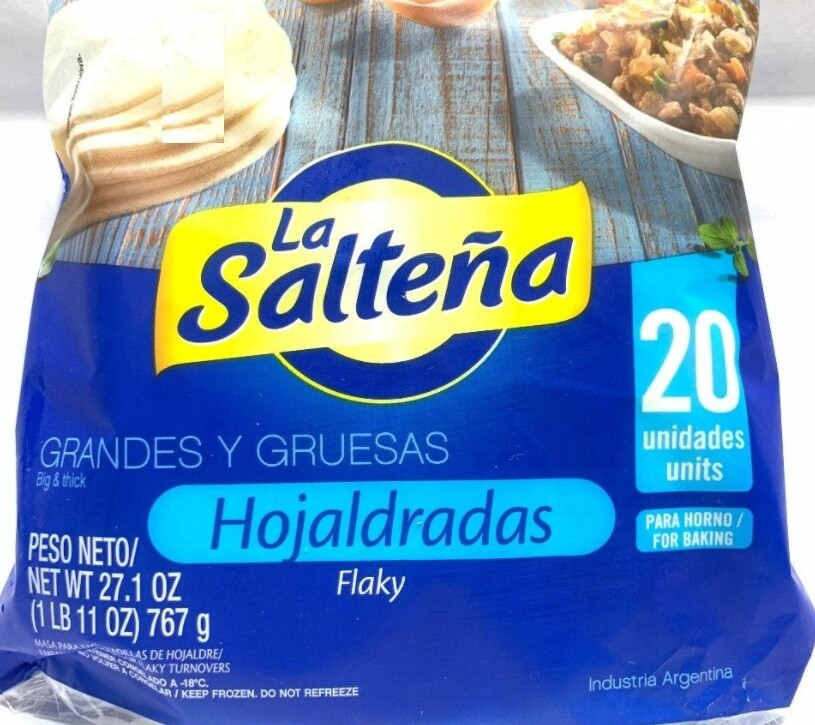 La Saltena Hojaldrada  (masa para empanada) 20 units