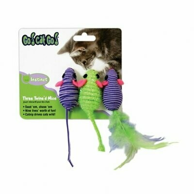 Go Cat Go Three Twine'd Mice 3 pack