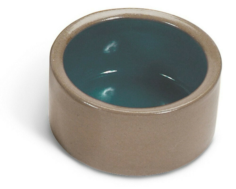 "Stoneware 5"" Crock Blue/Tan Bowl Deep"