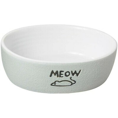 Ethical Nantucket Meow Cat Dish Gray 5in