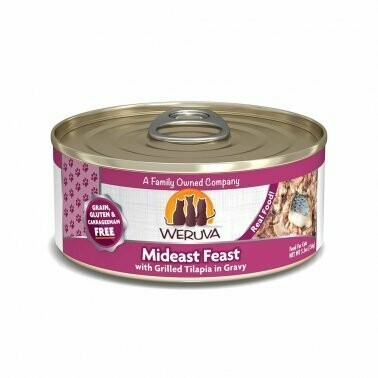 Weruva Mideast Feast with Grilled Tilapia in Gravy 5.5oz
