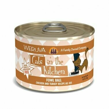 Weruva Fowl Ball Canned Cat Food 6oz