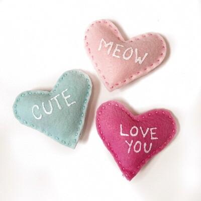 Catnip Conversation Heart Toy