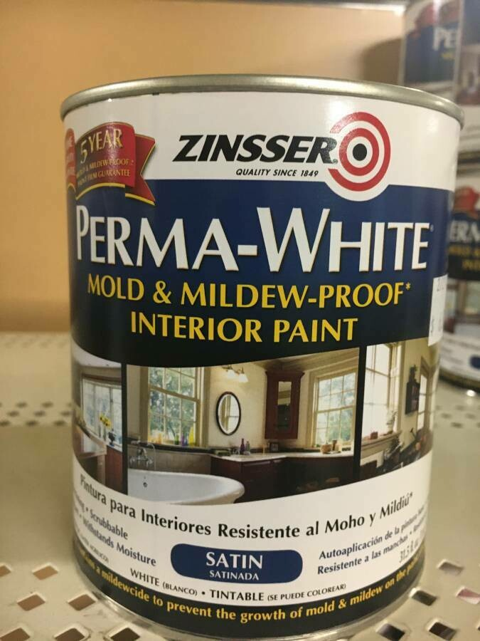 Zinnser Mold- and Mildew-Proof Paint, interior QT