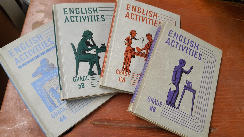 Vintage School Books, set