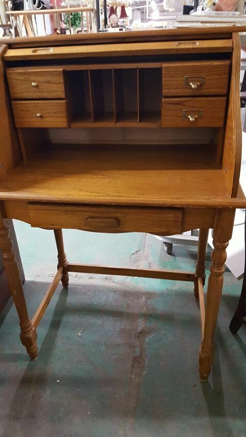 Small Oak Rolltop Desk