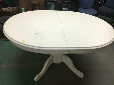 Dining Table, white oval, no chairs