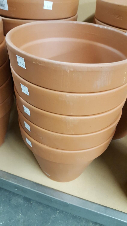 """Terra Cotta Pots, 9-1/2"""""""