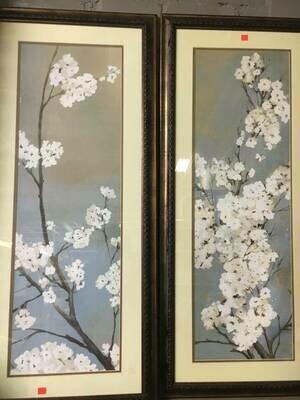 Framed Art - Dogwood -  19 x 42 1/2