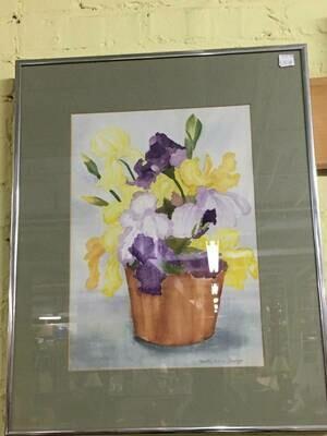 Framed Art - Yellow and Purple Irises