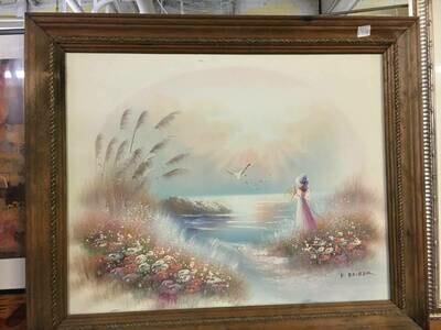 Framed Art - Girl by the water