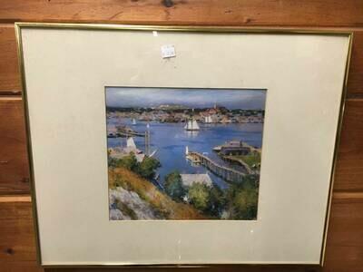 Framed Art - Harbor Scene
