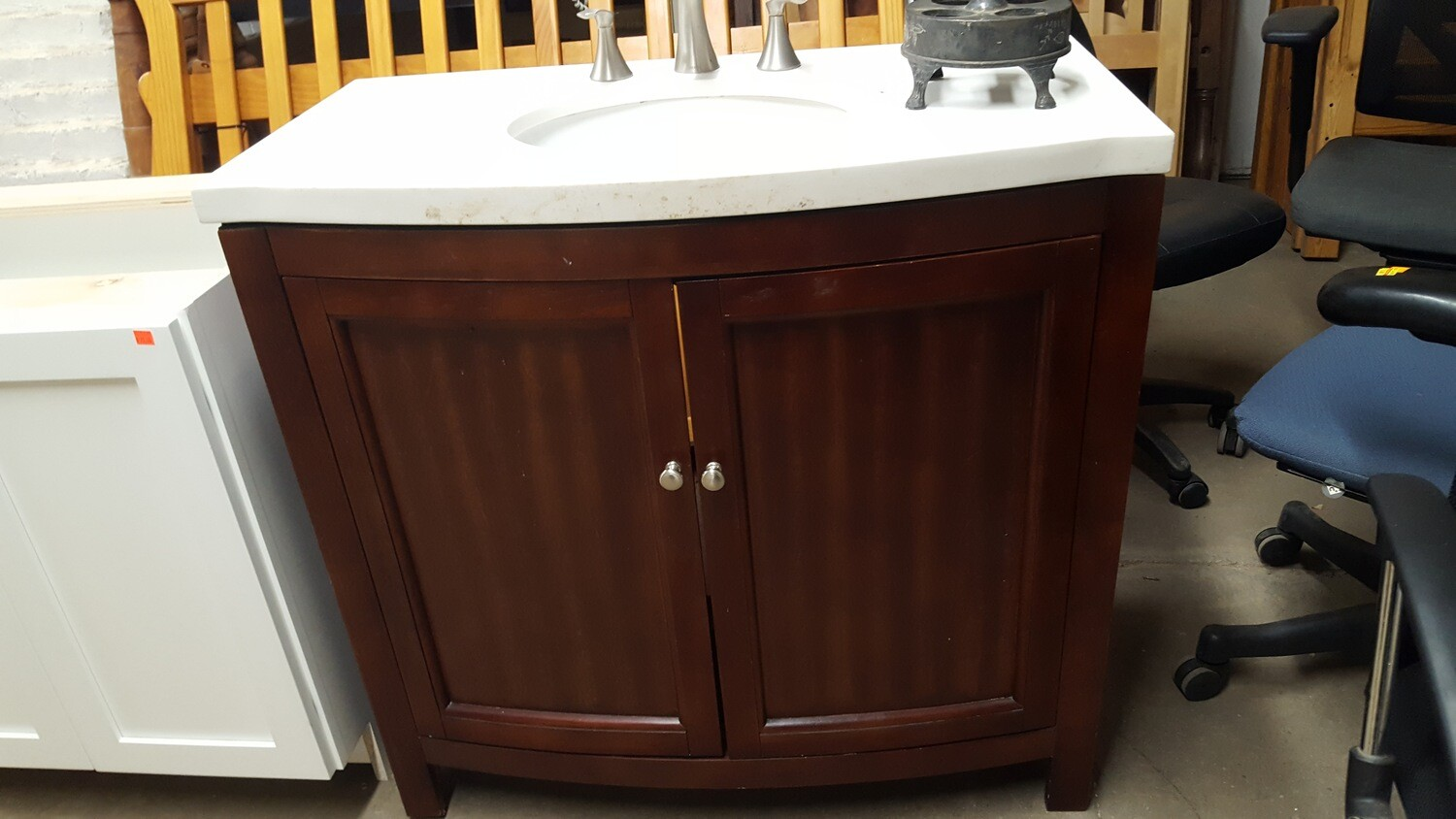 Bath Vanity with sink and faucet, 36""