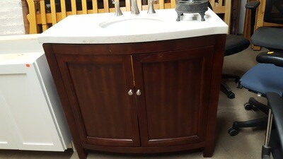 Bath Vanity with sink and faucet, 36