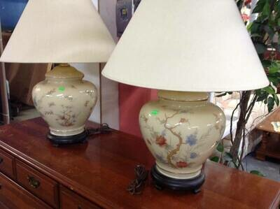 Oriental-style table lamps