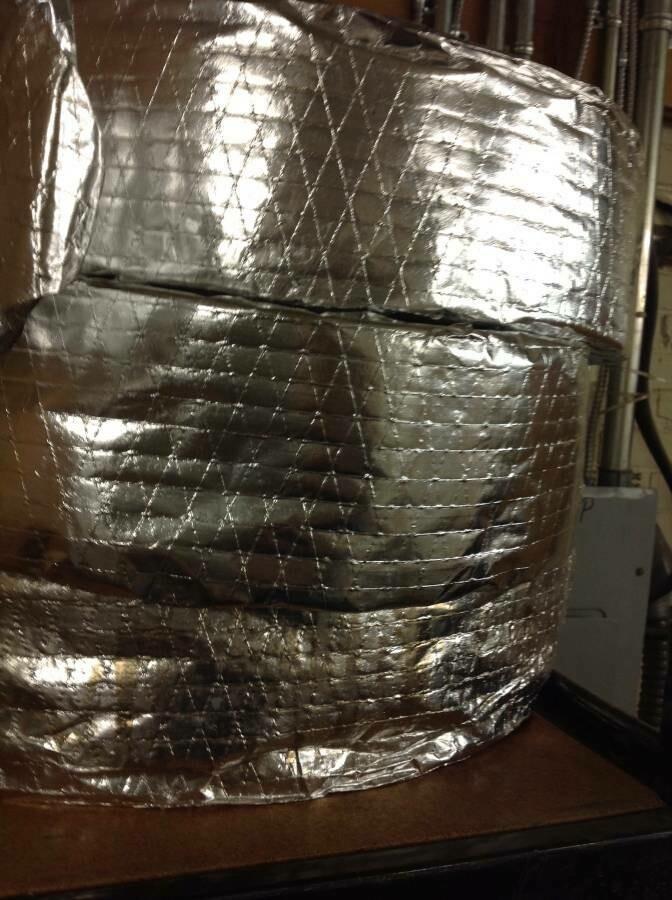 "Insulation rolls, 5"" x 25 ft"