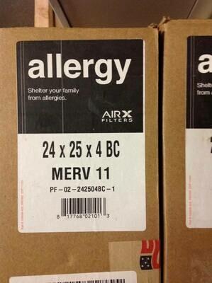 Air filters 24x25x4