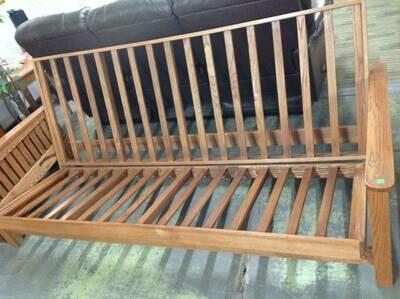 Futon, oak frame, Mission style