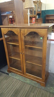 Maple Bookcase with glass doors