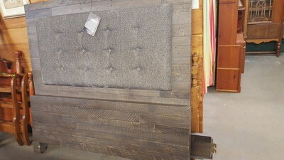 Ashley Furniture Queen Bed and Dresser Set - gray barnboard