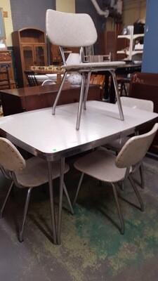 Vintage Chrome MCM Kitchen Set