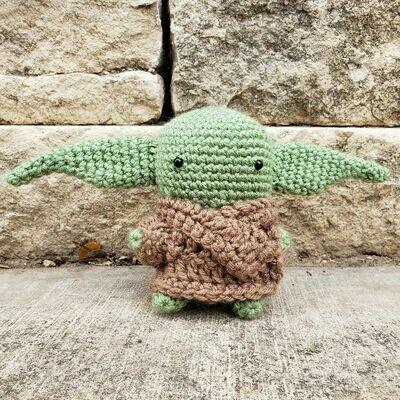 (NEW) 5-Inch The Child/Baby Yoda Crochet Doll by MLD Crochet Corner