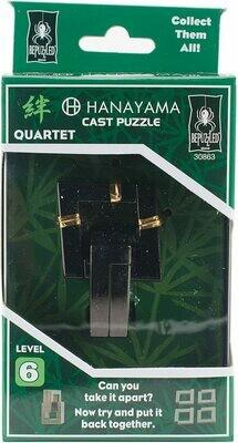 (NEW) CAST QUARTET Hanayama Cast Puzzle (Level 6)