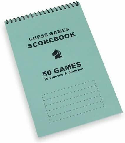 (NEW) Chess Games Scorebook - Blue (Softcover Quality)