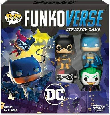 (NEW) Funko Pop! - Funkoverse Strategy Game: DC Comics #100 - 4-Pack